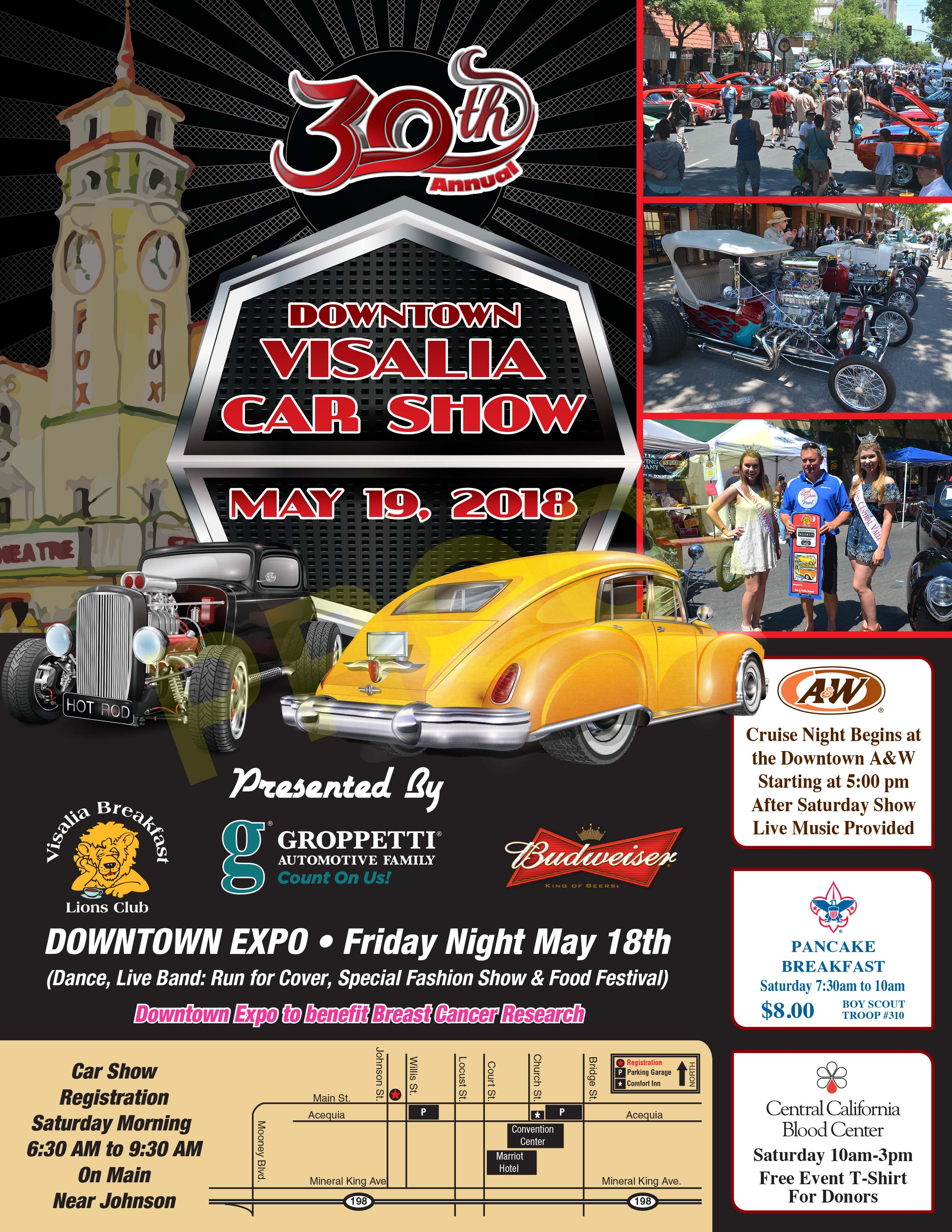 Visalia Downtown Car Show Visalia Breakfast Lions - Car show games
